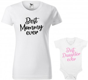 "Zestaw koszulka i body ""Best Mommy Daughter ever"""